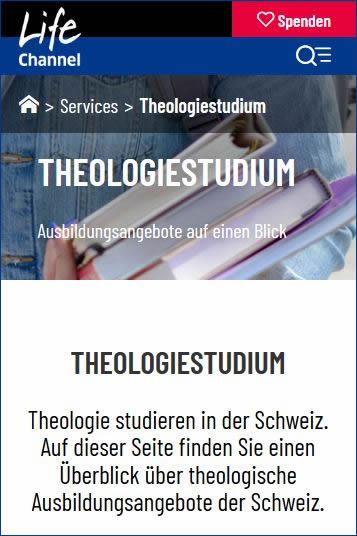 Theologie Studium Ausbildung in der Schweiz